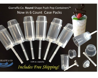 Push up Pop Containers for Cake and Ice Cream 6 count