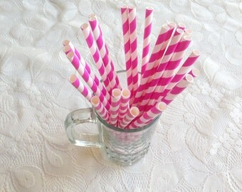 Chevron Paper Straw, Pink Sweet Party Fancy Straw, favors treat or treat, Baby shower, Kid Birthday, Wedding, Celebration, Event decorate