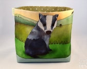 Badger Fabric Storage Box,  Storage Basket, Fabric Basket, Fabric Organiser, Storage Bin