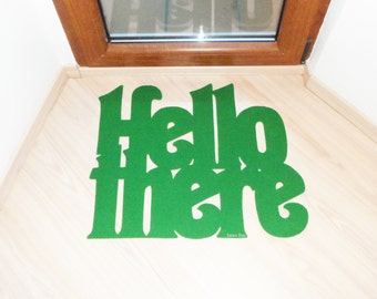 Modern design doormat: Hello there