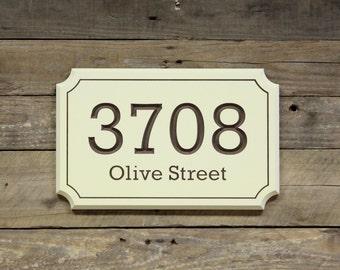 House Address Number Sign Plaque