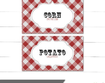 Old Fashioned Candy Buffet Labels - Dessert Table - Food Labels - DIY - An Old Fashioned BBQ - Peggy Sue Collection - Instant Download