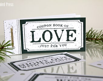 Love Coupon Book - Stocking Stuffer - Christmas Gift for boyfriend for husband - For Him - Love Coupons - Coupon Book - last minute – Unique