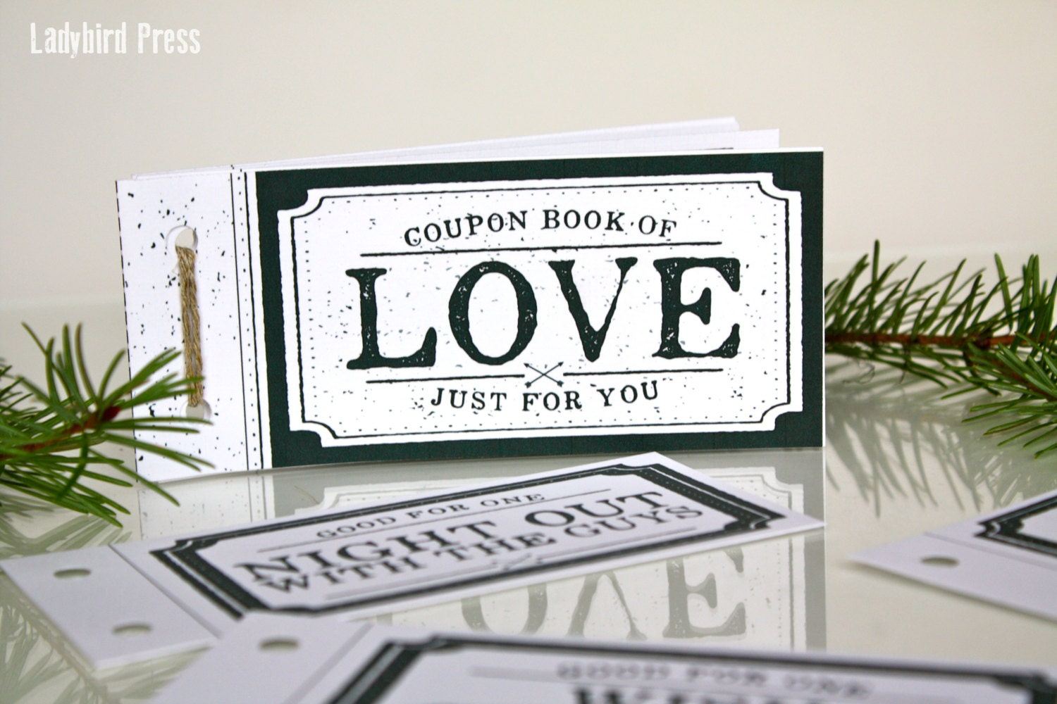 Love coupon book stocking stuffer christmas gift for for Coupon book template for husband