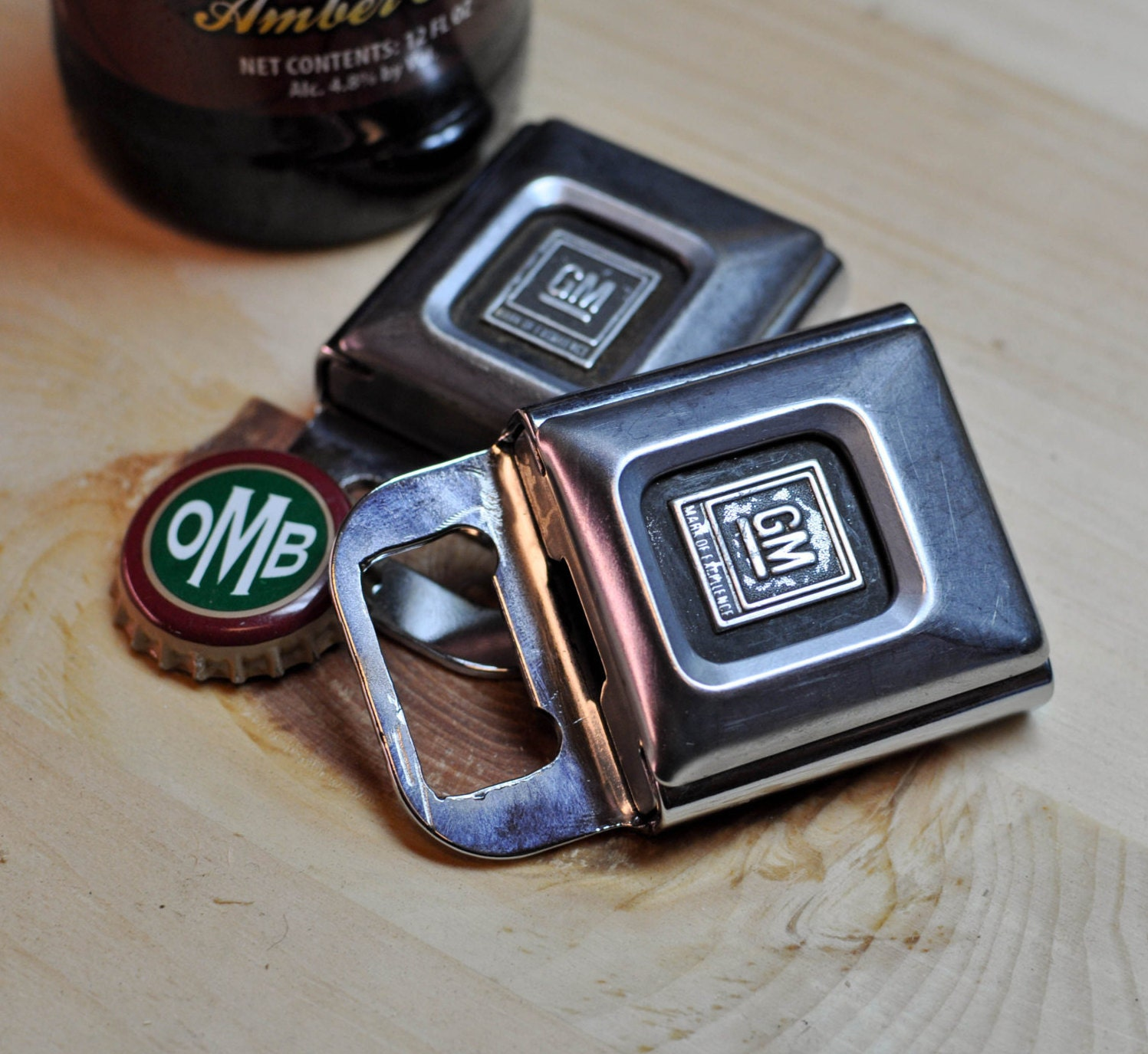 vintage gm seat belt buckle bottle opener. Black Bedroom Furniture Sets. Home Design Ideas