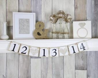Save the Date Banner,  Wedding Banner, Wedding Date Banner, Engagement Prop, Engagement Party, Bridal Shower Banner