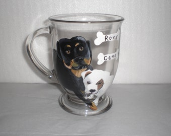 Pet Portait Coffee Mug featuring 2 Pets (Using Your Photos)