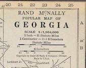 Georgia State Vtg Map, 1928