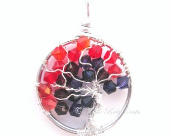 Placenta- Mini Tree of Life Necklace, Midwife, Doula, New Mother Gift, Birth Art