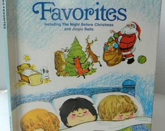 Vintage, Wonder Book, CHRISTMAS FAVORITES, 1978, Good Condition