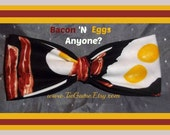 Bacon and Eggs Bow Tie - Perfect for Any Time of Day or Night, Just Like Breakfast - As Always U.S.SHIPPING ONLY 1.99