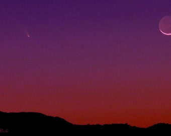 Comet Panstarrs by Catherine Natalia Roché, Crescent Moon Photography, Comet Photography, California Landscape Photography,