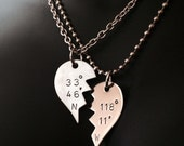 Two Halves of One Heart Coordinates Couple Necklace set