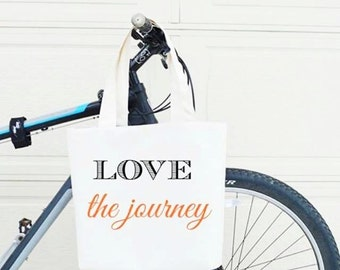 Love the journey Tote Bag Large, Sturdy, Heavyweight Canvas Grocery Bag