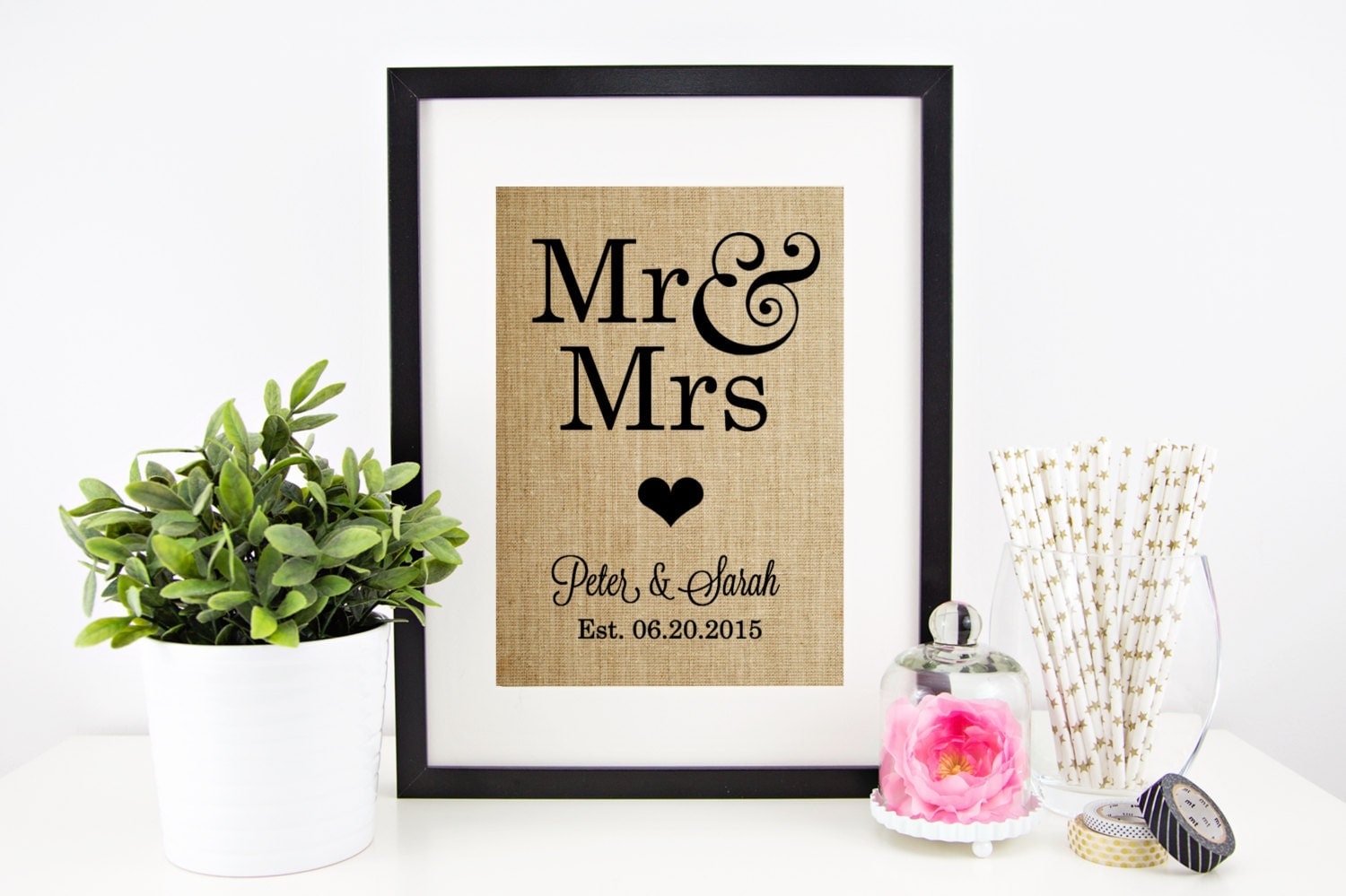 Wedding Gift Etsy: Mr And Mrs Sign Wedding Gift For Couple By Chathamplace On
