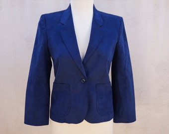 Bill Blass Navy Blazer, Navy Blue Blazer with 3/4 Length Sleeves, Traditional Blazer, Comfortable Blazer, Conservative, Preppy
