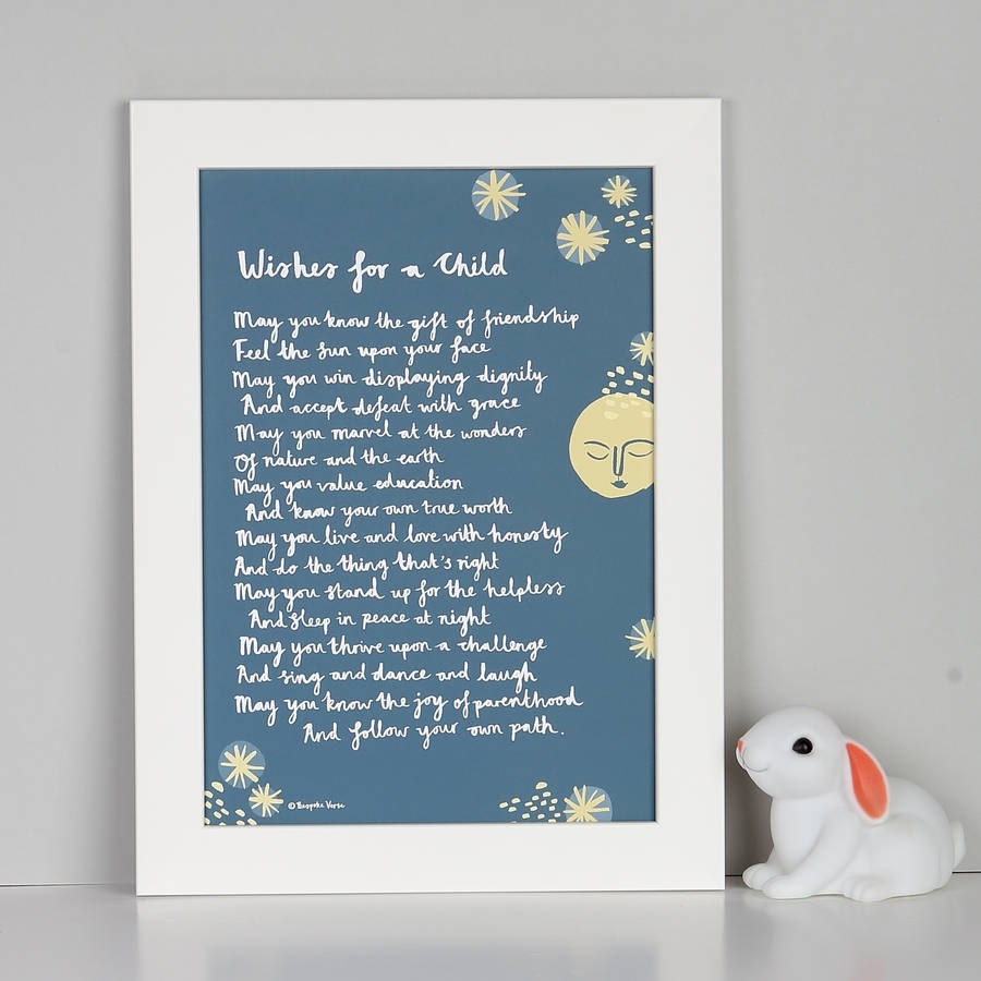 Baptismal Souvenir Message 84 Best Baptism Christening: Christening Gift Wishes For A Child Print Custom By