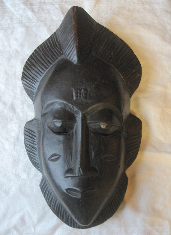 Decorative Wall Face Masks : Decorative face mask vintage wall hanging decor solid wood