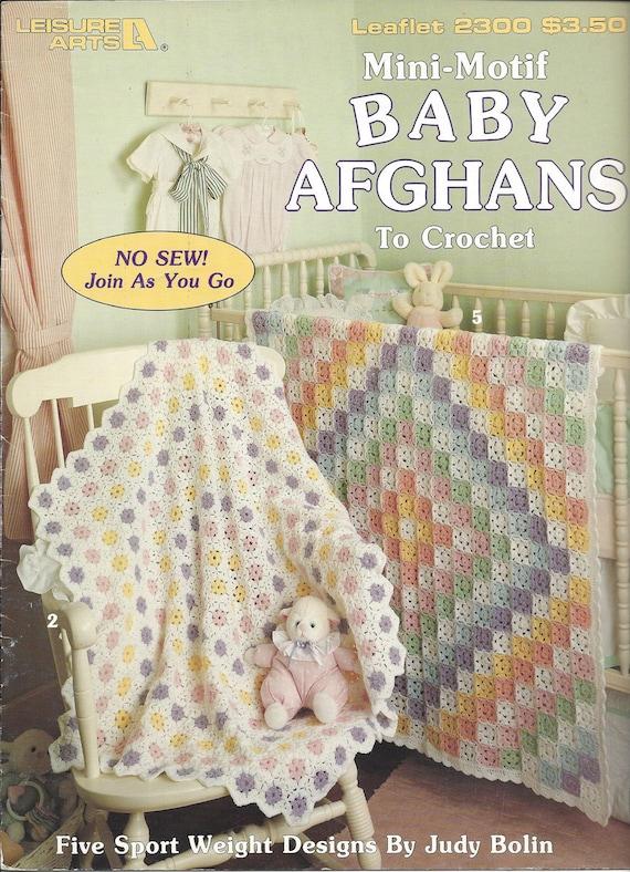 Mini Motif Baby Afghans Leisure Arts 2300 Crochet Baby