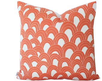 Orange Arches Outdoor Pillow Cover with Trina Turk Schumacher Fabric