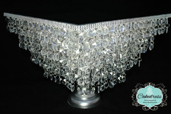 wedding cake stand with crystals items similar to wedding cake stand chandelier 25682