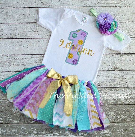 Mermaid Under The Sea 1st First Birthday 2nd Birthday Outfit