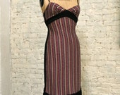 70s Knit Dress - Sexy Style, Great Print