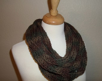 Woodland Finger Knit Infinity Scarf