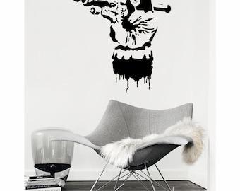 Wall Art Mona Lisa by Banksy vinyl wall decal alternative decor (ID: 111063)