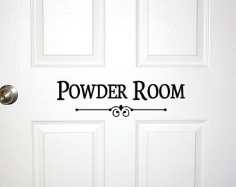 Superbe Powder Room Door Or Wall Decal   Decorative Powder Room Sign Bathroom Bath  Room Guest Shower