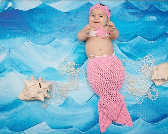 Halloween Costume, Mermaid Costume, Mermaid Tail, Mermaid Outfit, Baby Shower Gift, Photo Prop, Mermaid Baby, Mermaid Outfit Newborn Costume