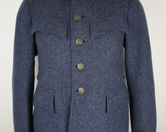 Vintage European Military Wool Coat size Small