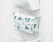 Baby Room Organizer - Nursery Storage Bins - Fabric Nursery Basket - Diaper Caddy Wall Organizer - Change Table Storage Custom Organizer