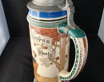 Vintage Model 459 Beer Stein (possibly by Schierholz Company?).