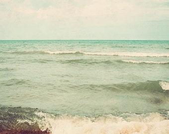 To The Sea - seascape photography, ocean art, dreamy landscape, beach decor, beach photograph