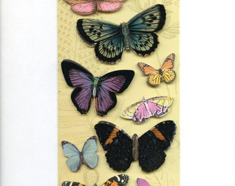 Butterfly CHIPBOARD STICKERS - Adhesive Butterflies - Butterfly Stickers - Flora Fauna Stickers - Die Cut Butterflies, Floral Fauna