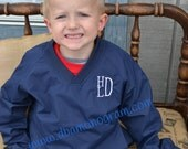 Youth or toddler Monogrammed wind shirt - perfect for Christmas
