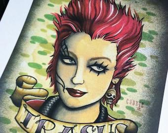 "Linnea Quigley ""Trash"" Standard Print"