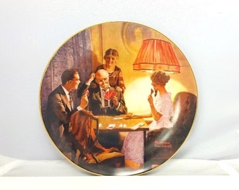 "Vintage Collectible Plate Norman Rockwell ""This is the room that light made"" limited edition plate; art, dish; Knowles' fine china"