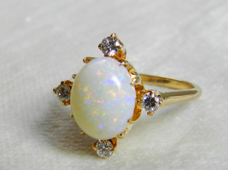 Opal Engagement Ring Ring Opal Engagement Ring Antique