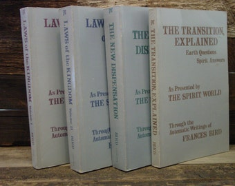 Frances Bird Collection Of Four Trade Paperback Books: Laws Of The Kingdom The Transition Etc Automatic Writing Channeling Spirituality