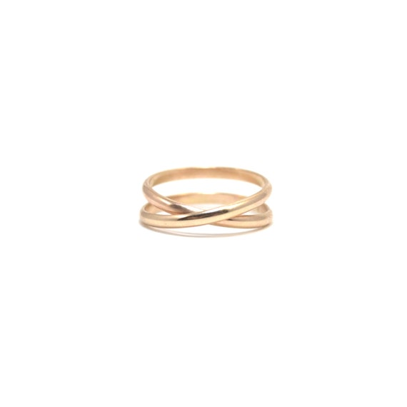 14k Solid Gold Infinity Ring - Unique Wedding Band, Promise Ring, Anniversary Ring