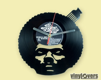 Pete Rock hip hop rap style handmade wall clock from vinyl record afro unique