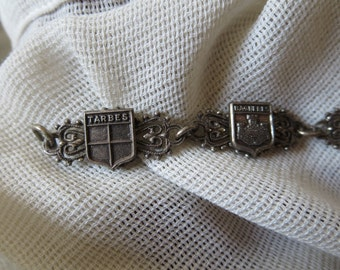 Antique Souvenir Charm Bracelet from Hautes Pyrénées Region of France