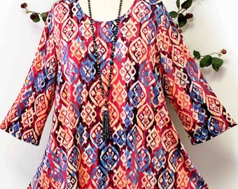 Dare2bstylish In Style Travelers Tunic top Small to 3XL. Plus Top, Asymmetrical Top Tunic