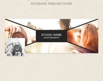 Facebook Timeline Cover - Facebook Timeline Template - PSD Template - Customize Facebook Page - Instant Download - F215