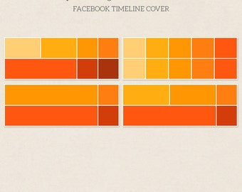 4 Square Facebook Timeline Covers - Facebook Timeline Template - PSD Template - Customize Facebook Page - Instant Download - F219
