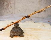 Unique Oak, Vine and Antique Brass Magic Wand for Magick, Wicca Wand, Wiccan Wand, Witch's Wand, Occult, Pagan or cosplay