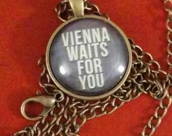 Billy Joel lyric pendant Vienna bronze jewelry