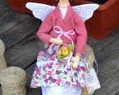 Tilda doll Garden Flowers Fairy. Handmade doll. Home decor.
